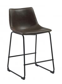Coaster 102535 Rec Room Bar Stool in Two Tone Brown Leatherette Set of 2