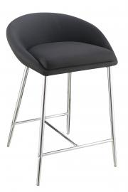 Coaster Rec Room 102685 Bar Stool Set of 2 Grey Fabric