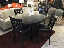 CLEARANCE 5 PC Counter Height Dining Set (Table and 4 Counter Height Chairs)