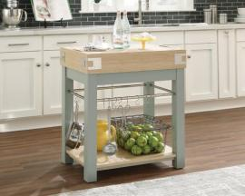 Scott Living 102986 Mint-Finish Kitchen Island