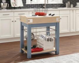 Scott Living 102987 Blue-Finish Kitchen Island