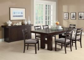 Dabny Collection 103101 Cappuccino Finish Contemporary Dining Table Set