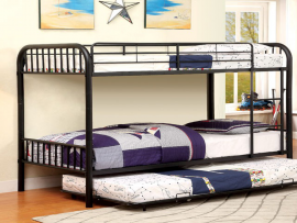 Gaston Collection Black Twin/Twin Trundle Bunk Bed
