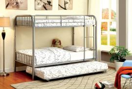 Apu Collection 1035SV Silver Twin/Twin Trundle Bunk Bed