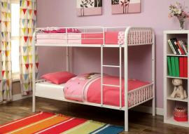 Ariel Collection White Twin/Twin Trundle Bunk Bed