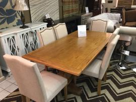CLEARANCE 7 PC Dining Set (Table and 6 Chairs) CERRITOS STORE ONLY