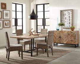 Scott Living Thompson 107561 Chevron Pattern Mango Wood Dining Set