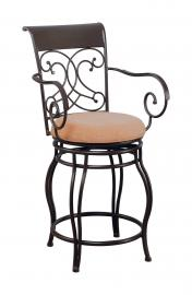 Coaster Rec Room 120020 Swivel Bar Stool in Bronze