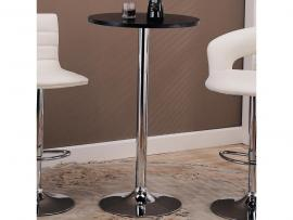 Coaster 121341 Chrome & Black Tempered Glass Bar Table Only