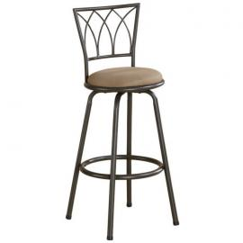 Coaster Rec Room 122019 Swivel Bar Stools Set of 2 in Tan Fabric