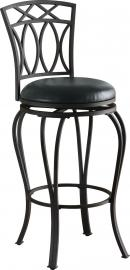 Coaster Rec Room 122060 Swivel Bar Stool in Black