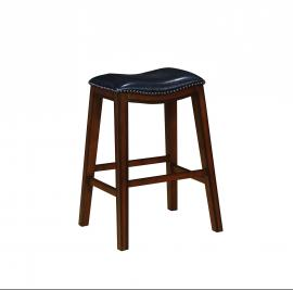 Coaster Rec Room 122262 Bar Stool Set of 2 in Black Leatherette