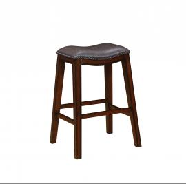 Coaster Rec Room 122264 Bar Stool Set of 2 in Two Tone Brown Leatherette