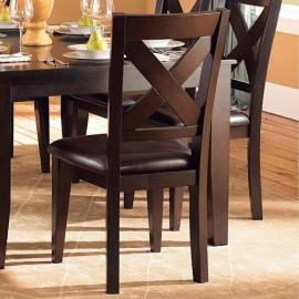 Crown Point by Homelegance Warm Merlot Finish Dining Side Chair 1372S Set of 2