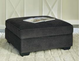Charenton by Ashley 1410111 Charcoal Fabric Storage Ottoman