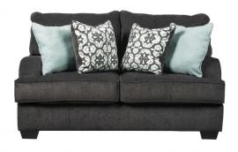 Charenton by Ashley 1410135 Charcoal Fabric Loveseat