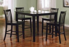 Connecticut Collection 150231BLK Black Counter Height Dining Table Set