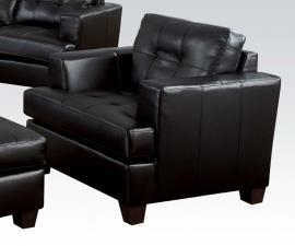 Platinum 15092 by Acme Black Bonded Leather Chair