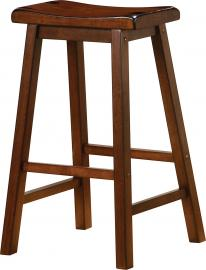 Coaster Rec Room 180079 Bar Stool Set of 2 in Chestnut Wood