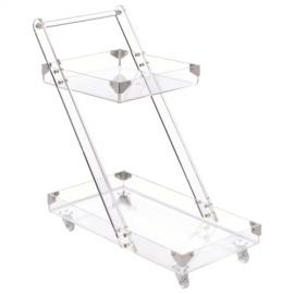 Clear Acrylic Serving Cart by Coaster 181002