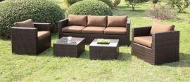 Olina Brown Collection Wicker Outdoor Sofa Set