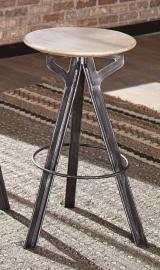 Coaster 182232 Sandblasted White & Antique Gunmetal Bar Table