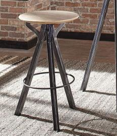 Coaster 182239 Sand Blasted White & Antique Gunmetal Bar Stool