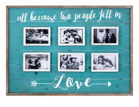 Love Collage Wall Frame 18356 6 Photo Wood Frame