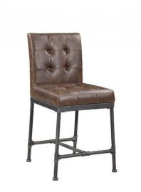 Heaton by Scott Living Antique Brown Leatherette 190629 Counter Height Dining Chair Set of 2