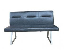Ramsey by Scott Living Blue Grey leatherette 190973 Dining Bench