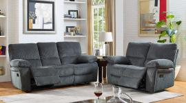 Walker Collection 20-2204-30-20-STM Storm Grey Reclining Sofa & Loveseat Set