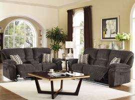 Lightning Collection 20-2242-SHW Brown Reclining Sofa & Console Loveseat Set