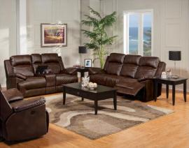 Cortez Collection 20-244-PBW Brown Reclining Sofa & Console Loveseat Set
