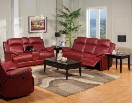 Cortez Collection 20-244-PRD Red Reclining Sofa & Console Loveseat Set