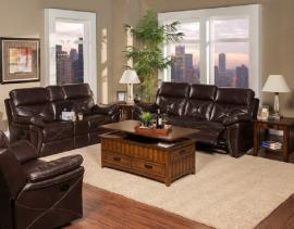 Galaxy Collection 20-326-SCH Snake Chocolate Reclining Sofa & Console Loveseat Set