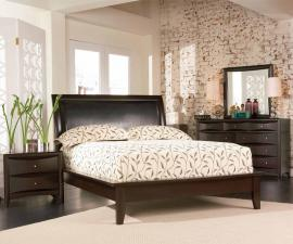 Phoenix Collection 200410 Cappuccino Padded Platform Bedroom Set