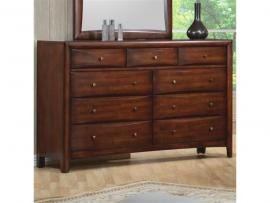 Hillary Collection 200643 Walnut Dresser