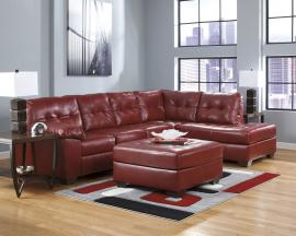 Microfiber Leather 2 Two Tone Small Sectional Sofa With