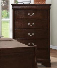Louis Philippe 202415 Cappuccino Five Drawer Chest