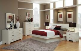 Jessica Collection 202990 White Platform Bedroom Set