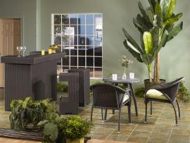 Hugo Collection 2037 Outdoor Patio Furniture Bistro Table Set
