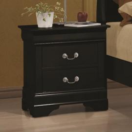 Louis Philippe 203962 Black Nightstand