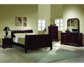 6 Pc. Queen Cherry Sleigh Bedroom Package