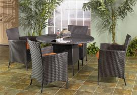 Hugo Collection 2040 Outdoor Patio Furniture Dining Table Set
