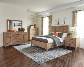 Scott Living Auburn 204611 White Washed Natural Bedroom Set