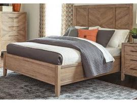 Scott Living Auburn 204611KW White Washed Natural California King Bed Frame