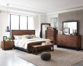 Scott Living Ellison 205241 Rustic Modern Industrial Acacia Bedroom Set
