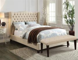 Faye 20644 Beige Platform California King Bed Frame