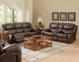Kenwood Collection 22-245-PBW Brown Power Reclining Sofa & Console Loveseat Set