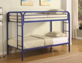 Irwin Collection 2256B Metal Blue Twin Twin Bunk Bed